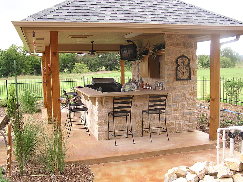 Outdoor kitchens fort worth outdoor fire place for Poolside kitchen designs
