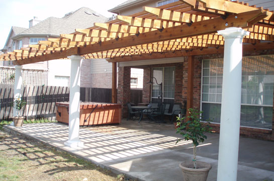 Cedar Pergola Fort Worth Custom Pergola Arlington